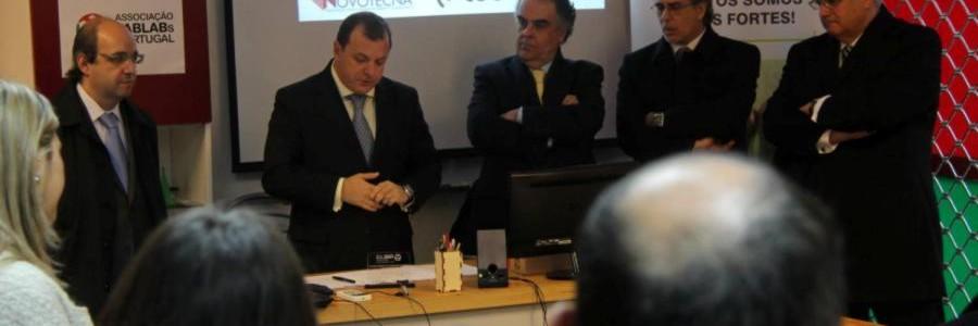 Secretário de Estado da Economia recebeu empresas tecnológicas da região no FabLab Coimbra