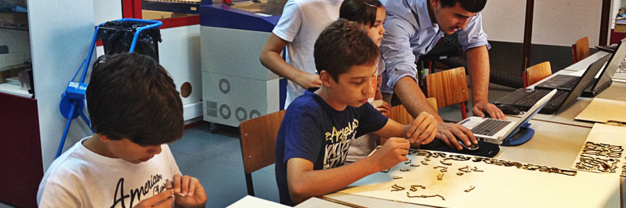 Workshop de Puzzle 3D no FabLab Coimbra