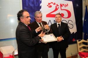 Horácio Pina Prata, Luís Mira Amaral e António Cardoso Pereira na comemoração dos 25 anos da Novotecna