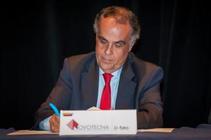 Horácio Pina Prata, presidente da NOVOTECNA, na assinatura do Protocolo com o Turismo de Portugal.
