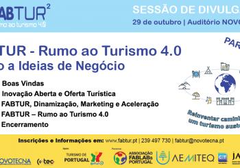 FabTur² com Sessão de Divulgação em Coimbra – 29 outubro